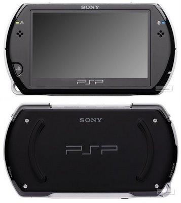 Front and back of the PSP Go.
