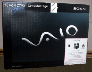 Sony Vaio VGN-Z790 Packaging