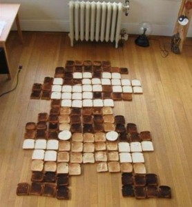 Mario Made Out of Toast