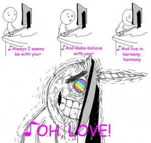 Funny Picture / Image: Robot Unicorn Attack Music Lol