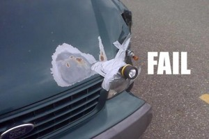 Funny Picture: Car With Broken Headlight
