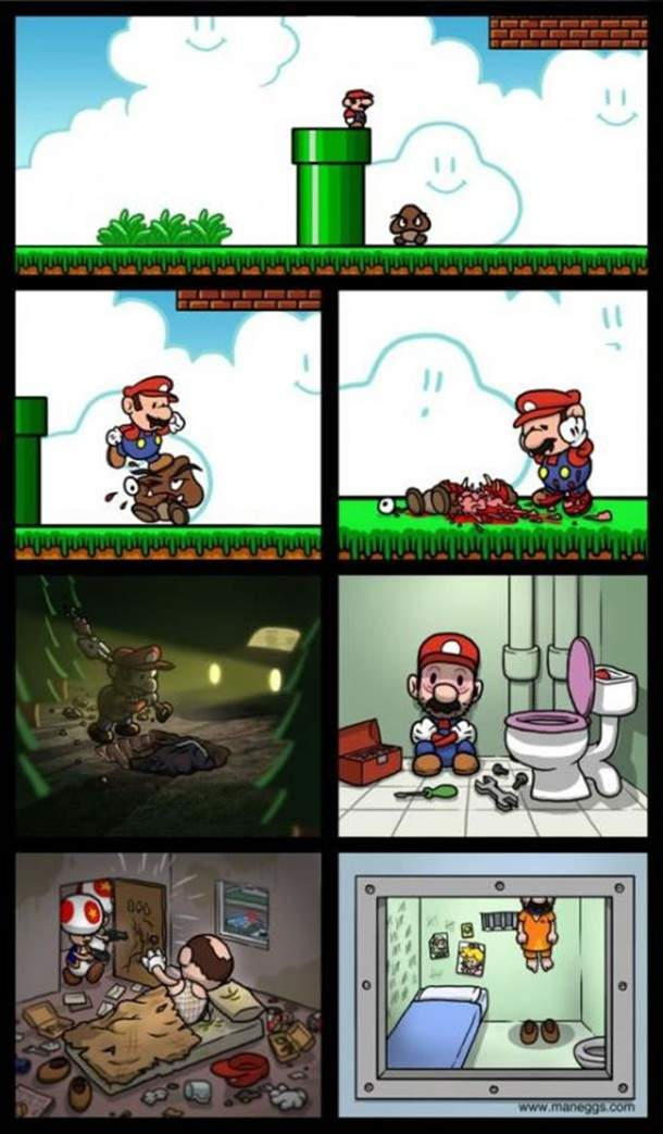 Mario Kills a Goomba and Goes to Jail