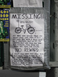 Funny Picture: Missing Bike